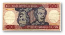 BRASIL - 100 CRUZEIROS - ND ( 1984 ) - P 198.b - Serie 7955 - Sign. 21 - Prefix A - Duque De Caxias - Brasil