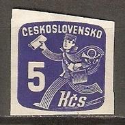 TCHECOSLOVAQUIE     -   Journaux  -  1945 .   Y&T N° 35 Oblitéré.   Facteur. - Newspaper Stamps