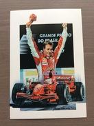 Cartolina Del 2007 Dedicata A Kimi Raikkonen Da Un Dipinto A Tempera Di Giovanni Cremonini - Grand Prix / F1