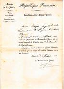 Ministère De La Guerre -Lieut Au 3e Règt De Tirailleurs Algèrien Nommè Au Grade De Chevalier De La Lègion D'Honneur - Documents Historiques