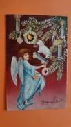 Ange - Angelot - Sapin De Noel - Jouet - Poupée - Mouton - Carte Gaufrée - Anges