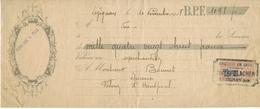 ANNEE 1918 TRAITE EFFET COMMERCE LETTRE DE CHANGE TIMBRE FISCAL EPICERIE BLACHER LEZIGNAN BONNET FELINES HAUTPOUL - Cambiali
