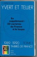 Catalogue Yvert Et Tellier  1989 1990 - France