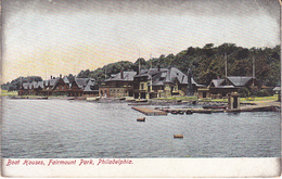 Old Postcard BOAT HOUSES, FAIRMOUNT PARK ,PHILADELPHIA, Pennsylvania USA - Philadelphia