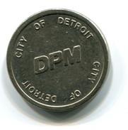 Detroit Transportation  Corporation Monorail Fare Token - Monetary/Of Necessity