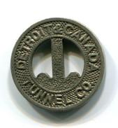 Detroit & Canada Tunnel Co. Fare Token - Monetary/Of Necessity