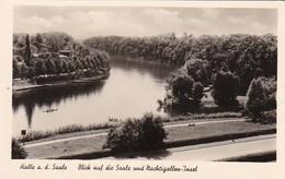 AK Halle A. D. Saale - Blick Auf Die Saale Und Nachtigallen-Insel (26769) - Halle (Saale)
