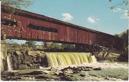 Postcard BRIDGETON BRIDGE, Covered Bridge, ROCKVILLE Indiana USA Stamps Cover - Etats-Unis