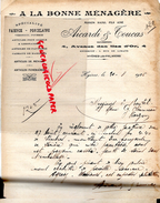 83 - HYERES LES PALMIERS- FACTURE AICARDI & TOUCAS- A LA BONNE MENAGERE- MAISON RAOUL FILS -4 AV. DES ILES D'OR- 1926- - 1900 – 1949