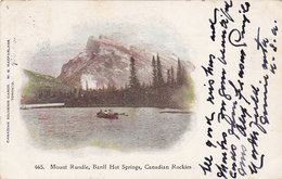 Mount Rundle, Banff Hot Springs, Canadian Rockiers (animation, 1904, Stamp) - Banff