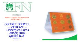 COFFRET 2 EUROS - VATICAN 2016 - Vaticano (Ciudad Del)