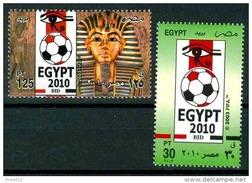 EGYPT MICHEL 2136-2137 MNH** FOOTBALL SOCCER WORLD CUP 2010