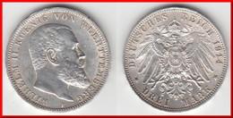 **** WURTTEMBERG - ALLEMAGNE - GERMANY - 3 MARK 1914 F WILHELM II - ARGENT - SILVER **** EN ACHAT IMMEDIAT !!! - [ 2] 1871-1918 : Empire Allemand