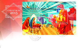 Australia FDC 2015 Souvenir Sheet Of 2 Christmas - Premiers Jours (FDC)