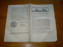 Lois An X :Timbres Pour Journaux.Mines De Rodern & St Hippolyte.Forge De Montgaillard.Imprimerie De La République & Lois - Decrees & Laws