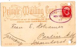 CP Privée De Toronto (13.11.1900) Pour Berlin - 1860-1899 Règne De Victoria