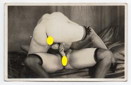 Carte Photo N°6 - Scène Entre 2 Femmes - Nus Adultes (< 1960)