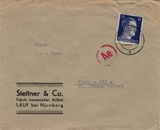 ALLEMAGNE - DEUTSCHES REICH 25 - COVER CENSOR - STETTNER & CO. - Duitsland