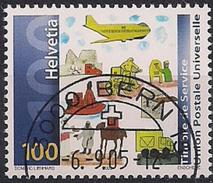 2005 Schweiz   UPU Mi. 20 FD-used  Weltweites Postnetz. - Switzerland