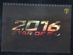 Calendar LAMBORGHINI 2016 STAR OF RIO - Moteurs