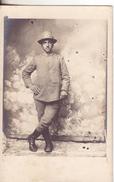 396-Cartolina Postale Fotografica Di Militari Italiani-Guerra 1915/18-Originale D' Epoca-Guardia Di Finanza 12-7-15 - Guerra 1914-18