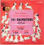 101 DALMATIENS WALT DISNEY PAR ROSINE YOUNG LIVRET DE 24 PAGES ILLUSTREES ET DISQUE 33 TOURS - Disques & CD