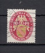 Deutsches Reich 10+10 Pf Nothilfe Wappen Baden 1926 - Gestempelt - Deutschland
