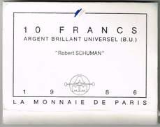 Frankreich 1986, Robert Schumann, 10 Franc (B.U) Silber - France