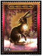 LATVIA ,  LETTONIA , LETTLAND   - 2009   Hare /  A Bunny -- Wildlife  ANIMAL   Used (0)