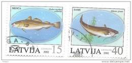 LATVIA - Fish 2002  Salmon  Used (0) - Latvia