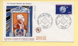 FDC N° 1756 – Le Grand Orient De France – 75 Paris 12/05/1973 - FDC