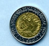1992 500 LIRA - San Marino