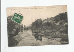 ACQUIGNY ENVIRONS DE LOUVIERS (EURE) L'EURE ET LE COTEAU 1912 - Acquigny