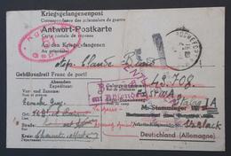 CP Pour Prisonnier De Guerre STALAG IV F Réexp > STALAG I A Stablawi POLOGNE ENTLASSEN ZURÜCK Sept 1943 - Marcophilie (Lettres)