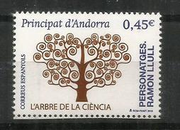 L'Arbre De La Science:Raymond Lull. Philosophe, Poète, Théologien, Missionnaire. 700 Ans Disparition. Un Timbre Neuf ** - Nuovi