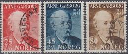 NORUEGA 1951 Nº 332/34 USADO - Noruega