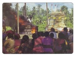 Bali. Cérémonie De Crémation. At Death The Body Is Cremated.... - Buddhism
