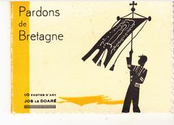 """Petit Carnet De 10 Photos  """" PARDONS DE BRETAGNE """" - France"""