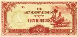 Burma ( Myanmar )  Pick Nr. 16, 10 Rupees, 1942 ! - Myanmar