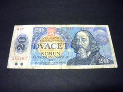 TCHECOSLOVAQUIE 20 Korun 1988, Pick N° 95, CZECHOSLOVAKIA - Tschechoslowakei
