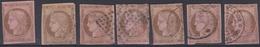 Colonies émissions Générales - 1872/77 -  N°18(o)- Lot De 7 Timbres - Ceres