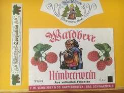 3254 - Allemagne Himbeerwein Vin De Framboises De La Forêt Noire - Sonstige