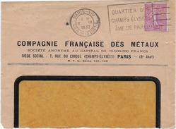 Dev.d' Env. Compagnie Fse Des Métaux - Perf. CFM 120 Sur 202 - Perfins