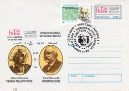 "Romania 2000 ""Albert Einstein & Emil Racovita"" Philatelic Exhibition Uprated Postal Stationery Cover"