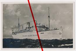 PostCard - Original Foto - Dampfer Sierra Cordoba - Kraft Durch Freude - KdF - 1937 - Paquebots