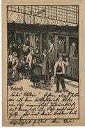 Ankunft. Wohlfahrtskarte Der Deutschen Bahnhofsmission, 1924 - Missionen