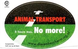 Sticker. Animal Transport (8 Hours No More!) - Uitgave Dierenbescherming - Stickers