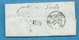 Seine Et Oise - Pontoise. Belle Collection De Documents (x7) - Marcophilie (Lettres)