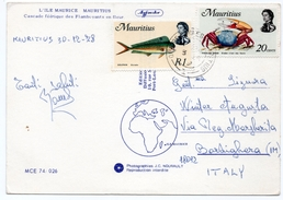 ILE MAURICE/MAURITIUS - CASCADE FEERIQUE DES FLAMBOYANTS EN FLEUR / THEMATIC STAMPS - FISH / CRAB - Mauritius