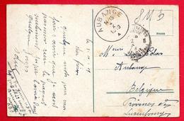 Cachet Postes Militaires Belgique Bureau N.° 5 Du 02.10.1919 Sur CP.  Duisburg-Homberg Am Rhein, Rheinpartie - Poste Militaire